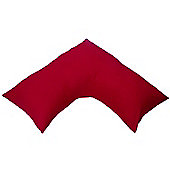 Homescapes Red Egyptian Cotton V Shaped Pillow Case 200 TC