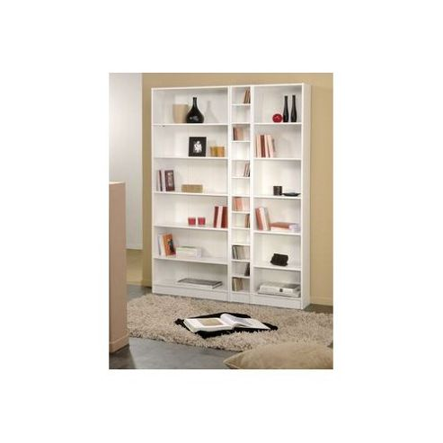 Parisot Blanc Narrow Bookcase with Five Shelves
