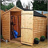 8ft x 6ft Overlap Windowless Sheds 8 x 6 Garden Wooden Shed 8x6