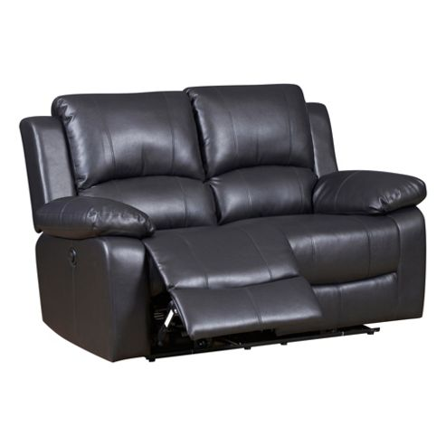 Buy Jordan Two Seater Recliner Sofa Black From Our Leather