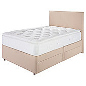 Relyon Pocket 1000 Pillowtop 4 Drawer Storage Padded Top Divan Double