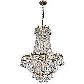 Attractive Chandelier Light with Gold Plated Metal Framework