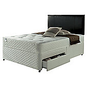 Silentnight Divan Bed, Miracoil Taplow Comfort Tufted Ortho, 4 Drawer