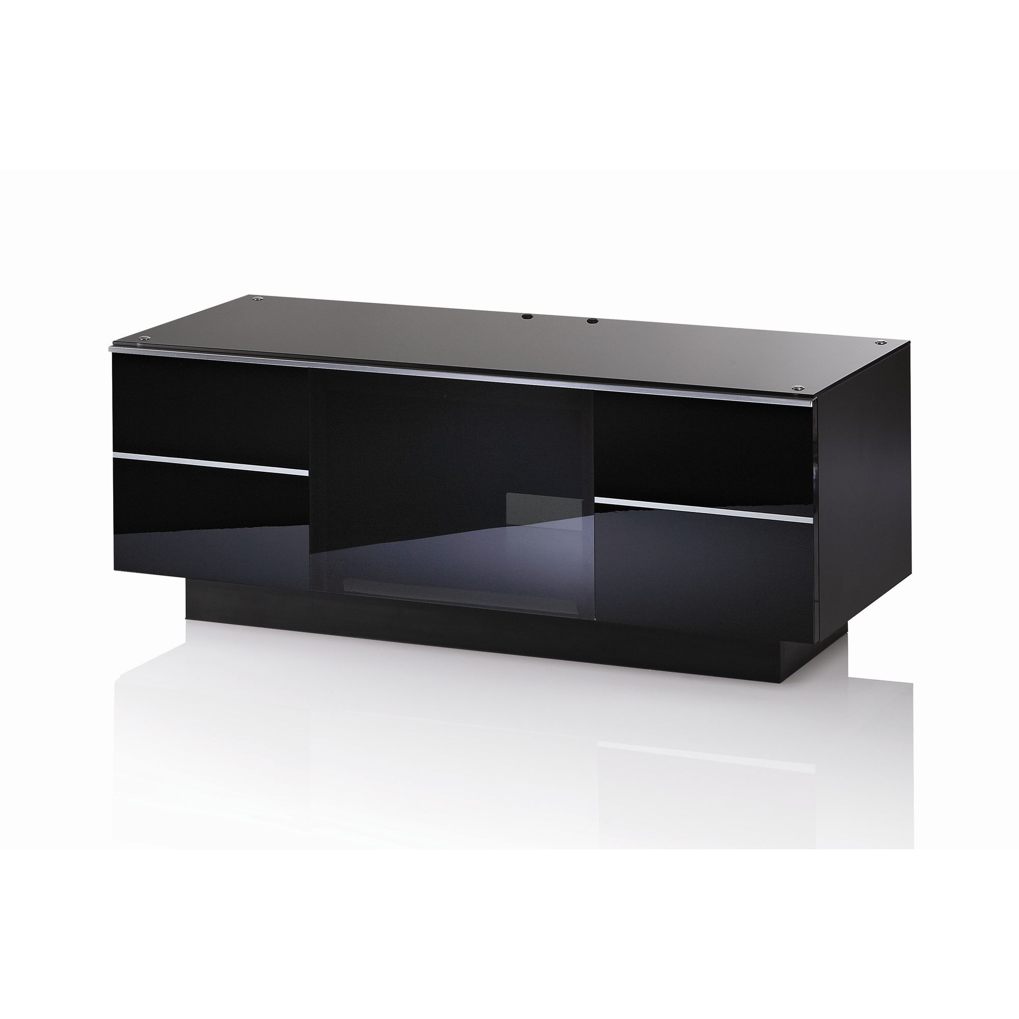 UK-CF G Series GG TV Stand - 110cm - Black at Tesco Direct