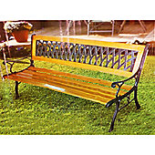 Cast - Metal / Solid Wood Garden Bench - Brown