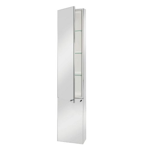 Buy croydex nile tall single door stainless steel bathroom for Bathroom cabinets tesco