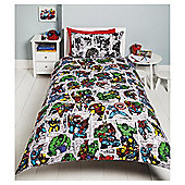 Marvel Comic Pop News Duvet Set, Single TESCO EXCLUSIVE