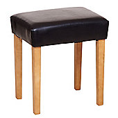 Home Essence Faux Leather Stool - Brown - Light Wood