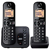 Panasonic KX-TGC222EB Twin Cordless Telephone , Black
