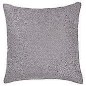 Plain Chenille Cushion, Grey