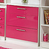 Welcome Furniture Knightsbridge 3 Drawer Chest - White - Tangerine