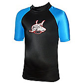 TWF UV Rash Vest Black/Blue Age 14/15