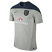 2014-15 England Nike Training Shirt (Grey) - Kids - Grey