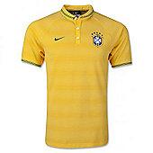 2014-15 Brazil Nike Authentic League Polo Shirt (Yellow) - Yellow