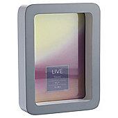 Tesco Curved Box Photo Frame Grey 5X7