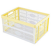 Tesco 32L Folding Crate Lemon