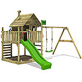 Fatmoose WackyWorld Mega XXL Treehouse With Swing And Apple Green Slide