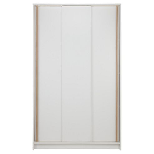 Trenton 3 Door Sliding Wardrobe White/Oak
