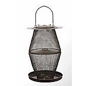 No/No Bronze Two Tier Lantern Wild Bird Feeder