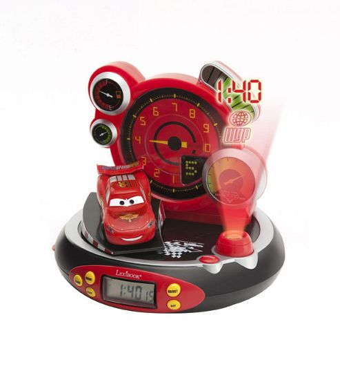 buy disney cars radio alarm clock projector from our novelty lighting range tesco. Black Bedroom Furniture Sets. Home Design Ideas