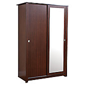 Elements Oakdale Sliding Door Wardrobe - Walnut