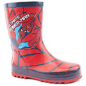 Character Boys Ultimate Spiderman Red Wellington Boots - Red