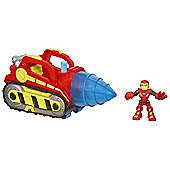 Playskool Heroes Marvel Super Hero Adventures - Repulsor Drill and Iron Man