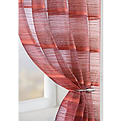 Strata Voile Curtain Panel - Red