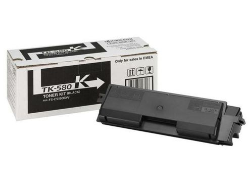 Kyocera TK-580K Toner (Yield 3,500 Pages) for FS-C5150DN Colour Printer