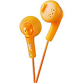 JVC XS15 Gumy Base Boost Stereo Headphones Orange