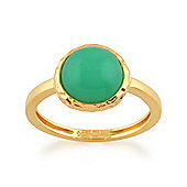 Gemondo Chrysoprase 'Irida' Pastel Ring in 9ct Yellow Gold Plated Sterling Silver