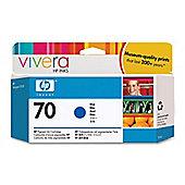 HP 70 printer Ink Cartridge with Vivera Ink  -Blue