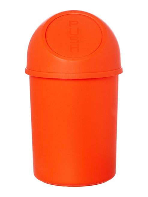 Linea Push Top Bin in Orange
