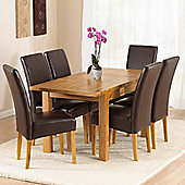 Mark Harris Furniture Rustique Classical Solid Oak Dining Table with Rustique Dining Chairs