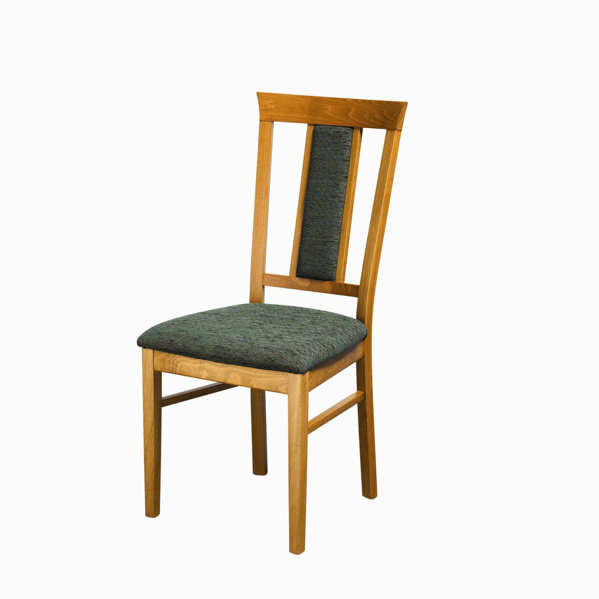 Caxton Tennyson Extending Dining Set with 4 Padded Back Dining Chairs in Teak - Green at Tesco Direct