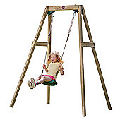 Plum Wooden Single Swing Set