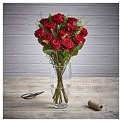 Finest Forever Mine Dozen Red Naomi Roses