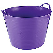 Tesco 42L Flexi Tub, Purple