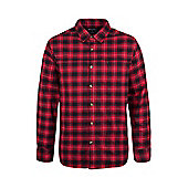 Mountain Warehouse Valley Mens Flannel Lined Long Sleeve Shirt - Red