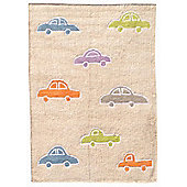 Lorena Canals Coches Multi Children's Rug - 120 cm W x 160 cm D (3 ft 11 in x 5 ft 3 in)