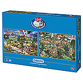 I Love Country & Gardening Twin Pack 500-piece Jigsaw Puzzles