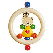 Heimess 762830 Wooden Ring Rattle (Bear)