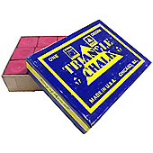 Triangle Billiard Chalk (12 Pieces) - Chalk Colour : Red