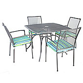 Bentley Garden Metal Mesh 5 Piece Grey Furniture Set