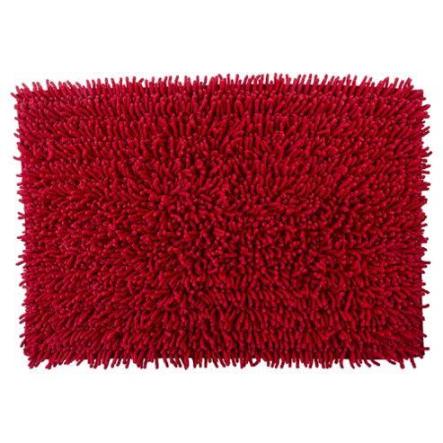 tesco chenille bath mat red. Black Bedroom Furniture Sets. Home Design Ideas