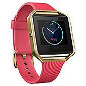 Fitbit, Blaze,Tapered Pink, Gold, Large, EMEA