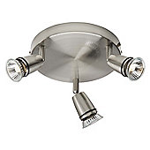 Brilliant Patty Three Light Ceiling Spotlight in Aluminium