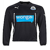 2013-14 Newcastle Puma Sweat Top (Black) - Kids - Black