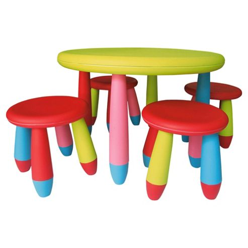 Culcita Kiddie Plastic Garden Table & Stool Set