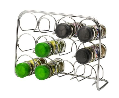 Hahn Pisa Spice Rack in Polished Chrome, H20xWx26xD11cm